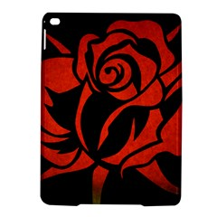 Red Rose Etching On Black Apple Ipad Air 2 Hardshell Case