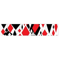 Distorted Diamonds In Black & Red Flano Scarf (small)