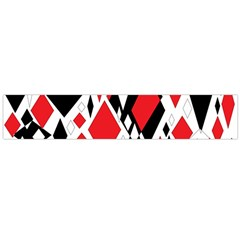 Distorted Diamonds In Black & Red Flano Scarf (Large)