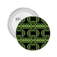Green Shapes On A Black Background Pattern 2 25  Button
