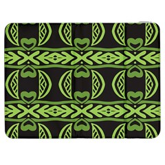Green shapes on a black background pattern Samsung Galaxy Tab 7  P1000 Flip Case
