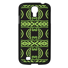 Green Shapes On A Black Background Pattern Samsung Galaxy S4 I9500/ I9505 Case (black)