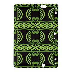 Green shapes on a black background pattern Kindle Fire HDX 8.9  Hardshell Case