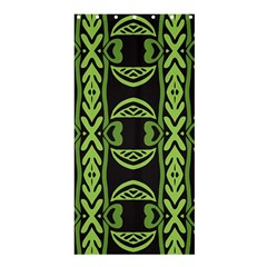 Green Shapes On A Black Background Pattern Shower Curtain 36  X 72  (stall)