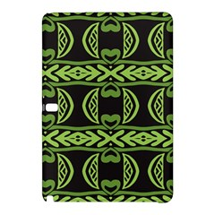 Green shapes on a black background pattern Samsung Galaxy Tab Pro 12.2 Hardshell Case
