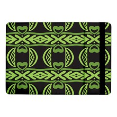 Green shapes on a black background pattern Samsung Galaxy Tab Pro 10.1  Flip Case