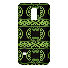 Green shapes on a black background pattern Samsung Galaxy S5 Mini Hardshell Case