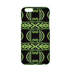 Green shapes on a black background pattern Apple iPhone 6 Hardshell Case