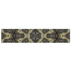 Geometric Tribal Golden Print Flano Scarf (small)