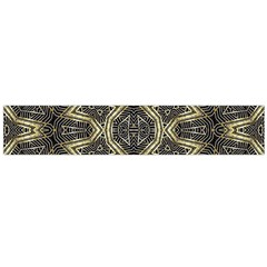 Geometric Tribal Golden Print Flano Scarf (large)