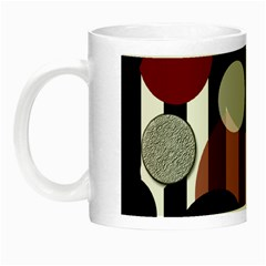 Black White Red Stripes Dots Glow In The Dark Mug