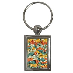 Paint Strokes In Retro Colors Key Chain (rectangle)