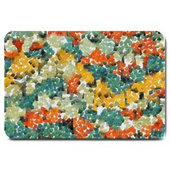 Paint strokes in retro colors Large Doormat