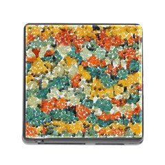Paint Strokes In Retro Colors Memory Card Reader With Storage (square)