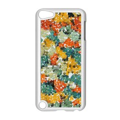 Paint strokes in retro colors Apple iPod Touch 5 Case (White)