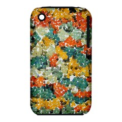 Paint strokes in retro colors Apple iPhone 3G/3GS Hardshell Case (PC+Silicone)