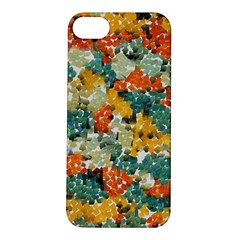 Paint strokes in retro colors Apple iPhone 5S Hardshell Case