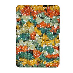 Paint strokes in retro colors Samsung Galaxy Tab 2 (10.1 ) P5100 Hardshell Case
