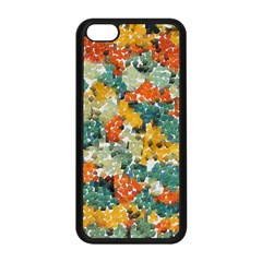 Paint Strokes In Retro Colors Apple Iphone 5c Seamless Case (black)
