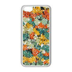 Paint strokes in retro colors Apple iPhone 5C Seamless Case (White)