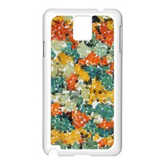 Paint Strokes In Retro Colors Samsung Galaxy Note 3 N9005 Case (white)