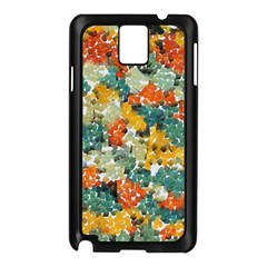 Paint strokes in retro colors Samsung Galaxy Note 3 N9005 Case (Black)