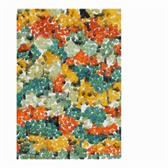 Paint strokes in retro colors Small Garden Flag (Two Sides)