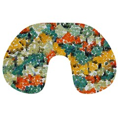 Paint strokes in retro colors Travel Neck Pillow