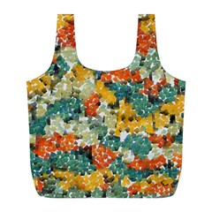 Paint strokes in retro colors Full Print Recycle Bag (L)