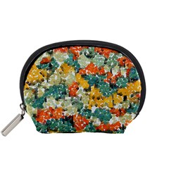 Paint Strokes In Retro Colors Accessory Pouch (small)