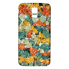Paint strokes in retro colors Samsung Galaxy S5 Back Case (White)