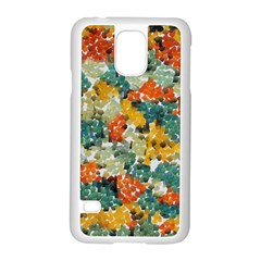 Paint Strokes In Retro Colors Samsung Galaxy S5 Case (white)