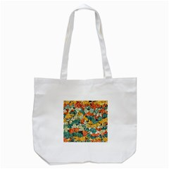 Paint strokes in retro colors Tote Bag (White)