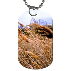 Blowing Prairie Grass Dog Tag (one Sided)