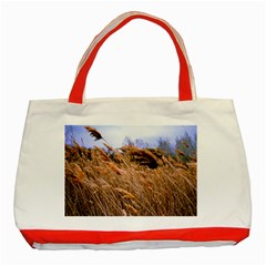 Blowing Prairie Grass Classic Tote Bag (red)
