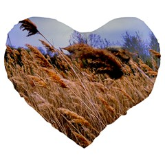 Blowing Prairie Grass 19  Premium Heart Shape Cushion