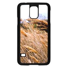 Blowing prairie Grass Samsung Galaxy S5 Case (Black)