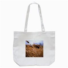 Blowing prairie Grass Tote Bag (White)
