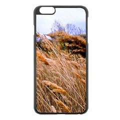 Blowing prairie Grass Apple iPhone 6 Plus Black Enamel Case