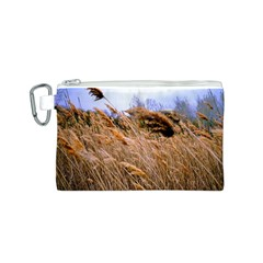 Blowing prairie Grass Canvas Cosmetic Bag (Small)