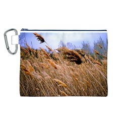 Blowing prairie Grass Canvas Cosmetic Bag (Large)