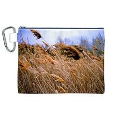 Blowing Prairie Grass Canvas Cosmetic Bag (xl)