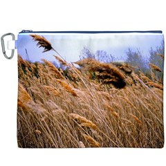 Blowing Prairie Grass Canvas Cosmetic Bag (xxxl)