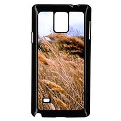 Blowing prairie Grass Samsung Galaxy Note 4 Case (Black)