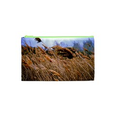 Blowing prairie Grass Cosmetic Bag (XS)