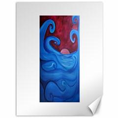 Blown Ocean Waves Canvas 36  x 48  (Unframed)