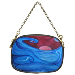 Blown Ocean Waves Chain Purse (two Sided)