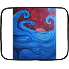 Blown Ocean Waves Mini Fleece Blanket (two Sided)