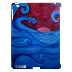 Blown Ocean Waves Apple Ipad 3/4 Hardshell Case (compatible With Smart Cover)