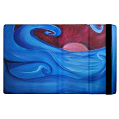 Blown Ocean Waves Apple Ipad 2 Flip Case